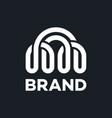 modern bridge and communication logo vector image vector image