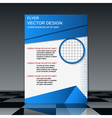 Modern flyer design template vector image vector image