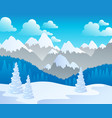 mountain theme landscape 4 vector image