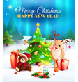 new year cartoon vector image