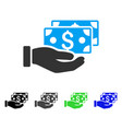 pay by cash flat icon vector image vector image