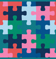 puzzle pieces seamless background vector image vector image