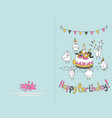 ready for print happy birthday card design with vector image vector image