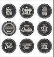 sale gray modern stickers collection vector image vector image