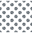 Seamless pattern with polka dots abstract roses vector image vector image