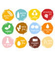 set food labels allergens food intolerance symbol vector image vector image