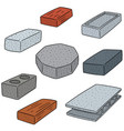 set of concrete construction block vector image vector image