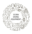 set of scuba diving vector image vector image