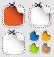set scissors cutting stickers vector image vector image