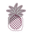 sticker silhouette pineapple fruit icon stock vector image vector image