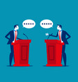 successful business person a speaking at podium vector image