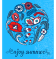 summer doodle vector image vector image