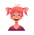 Teen girl face laughing facial expression vector image vector image