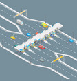 toll road payment concept 3d isometric view vector image vector image
