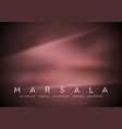 Trendy color marsala 2015 Smooth silk abstract vector image vector image