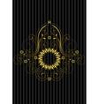 Vintage gold circular patterned frame vector image vector image