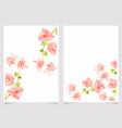 watercolor pink bougainvillea wedding invitation vector image vector image