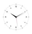 White clock face with black and red pointer on vector image vector image
