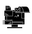 email marketing icon sign o vector image