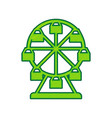 ferris wheel sign lemon scribble icon on vector image