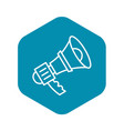 alert bullhorn icon outline style vector image vector image