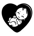 baby icon simple black style vector image vector image