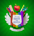 back to school coat arms vector image vector image