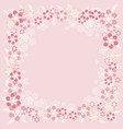 background with many flowers vector image