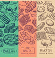 bakehouse product vintage flyer set vector image vector image