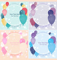 balloons sale business template for web and print vector image vector image