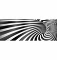 black and white twisted lines horizontal vector image