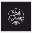 black friday logo round linear friday sale vector image