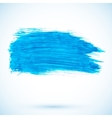 Blue paint texture stain vector image vector image