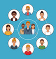 business teamwork and people vector image vector image