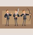 cartoon flat business man character set vector image vector image