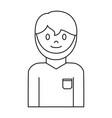 cartoon plumber man icon vector image vector image