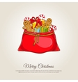 Christmas Banner with Santa Sack of Gifts vector image vector image