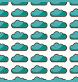 cloud computing pattern background vector image vector image