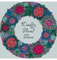 color floral frame pattern vector image vector image