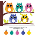 color matching game for kids cut circles and vector image