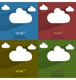 color set Cloud download application web icon flat vector image