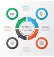 commerce icons set collection of calculation tool vector image