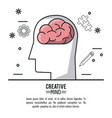 creative mind design vector image vector image