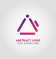 double exposure business logo template in purple vector image vector image