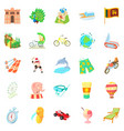 experience icons set cartoon style vector image vector image