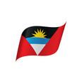 flag of antigua and barbuda vector image vector image