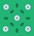 flower white daisy and pattern elements on a vector image vector image