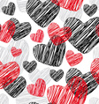 Funny seamless pattern with hearts vector image vector image
