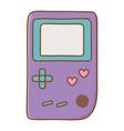 game boy icon vector image