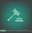 gavel icon law symbol of justice and judgment vector image vector image